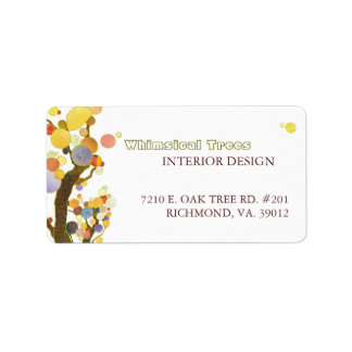 Whimsical Trees Interior Business Address Labels