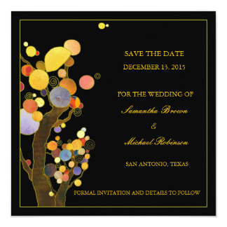 Whimsical Trees Save the Date Wedding Invitations