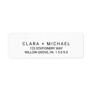 Whimsical Typography Wedding Return Address Label