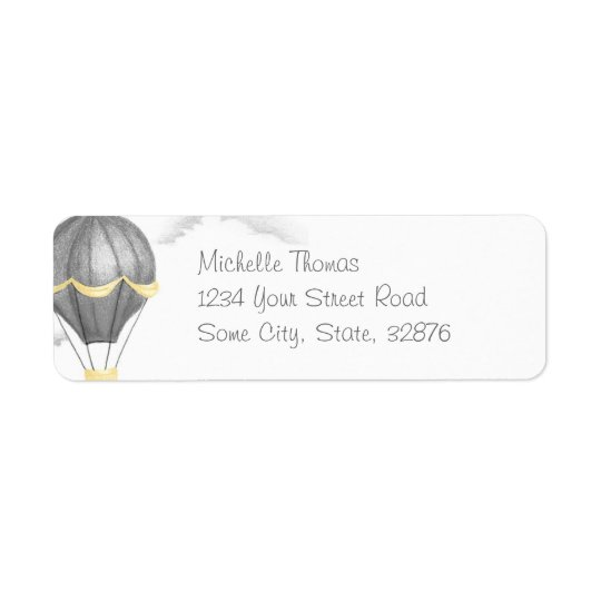 Whimsical Vintage Hot Air Balloon Return Address Return Address Label