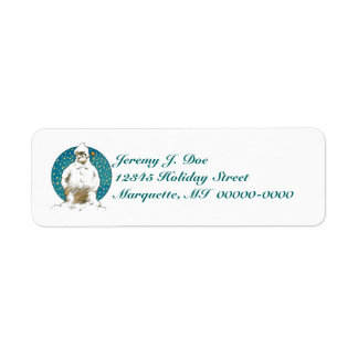 Whimsical Vintage Snowman w/ Corn Cob Pipe Labels