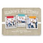 Whimsical Washi Tape Photo Season's Greeting Invite