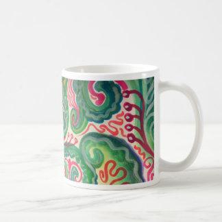 Whimsical Watercolor: Pink and Bright Green II Coffee Mug
