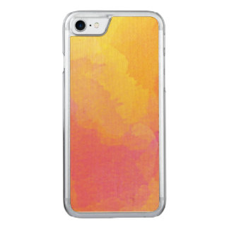 Whimsical Watercolor Wash in Yellow Orange Pink Carved iPhone 8/7 Case