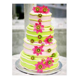 Whimsical Wedding Cake Postcard