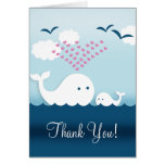 Whimsical Whales Thank You Note Card