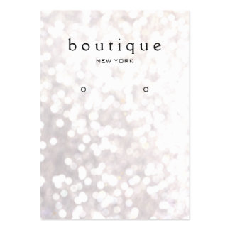 Whimsical White Bokeh Earring Display Card Pack Of Chubby Business Cards