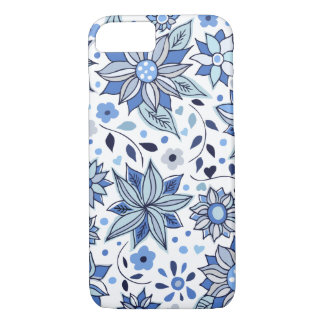 Whimsical Winter Love Flowers iPhone 7 Case