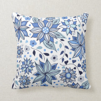 Whimsical Winter Love Flowers Pillow