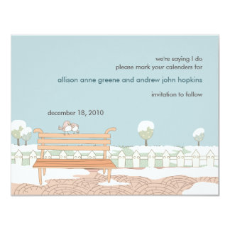 Whimsical Winter Wedding Save the Date Card