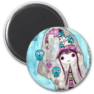 Whimsical Witches ~ Marci 6 Cm Round Magnet