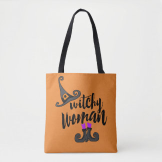 Whimsical Witchy Woman Halloween Tote Bag