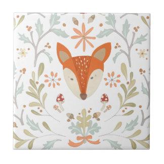 Whimsical Woodland Fox Ceramic Tile