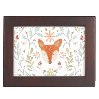 Whimsical Woodland Fox Keepsake Box