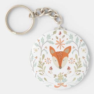 Whimsical Woodland Fox Key Ring