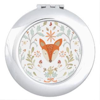 Whimsical Woodland Fox Makeup Mirror