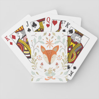 Whimsical Woodland Fox Playing Cards