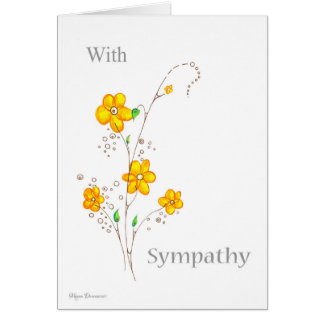 Whimsical Yellow Flower With Sympathy Card