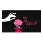 Whimsical Zebra Cupcake Bakery Business Cards