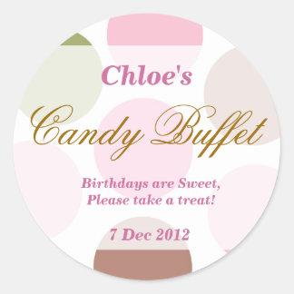 WhimsicalDotty Birthday Candy Buffet Sticker