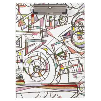 Whimsy-Abstract Art Geometric Clipboard