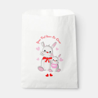 Whimsy Bunny Rabbits Baby Shower Favour Bag