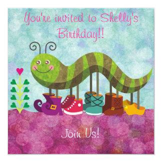 Whimsy Caterpillar Kids Invitation