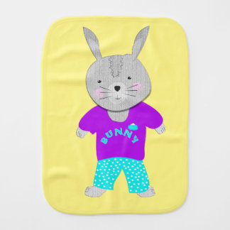 Whimsy Cute Kids Bunny Rabbit Burp Cloth