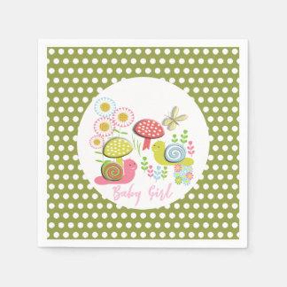 Whimsy Fairy-tale Spring Garden Baby Girl Shower Paper Serviettes