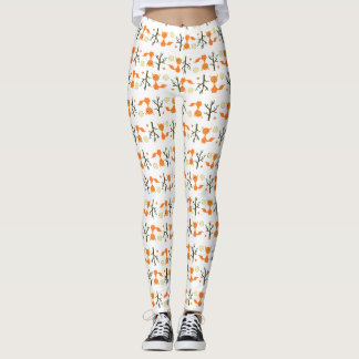 Whimsy Fox Pattern Leggings
