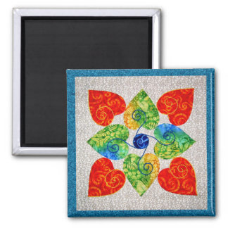 Whimsy Hearts Quilt - Block #1 Magnets