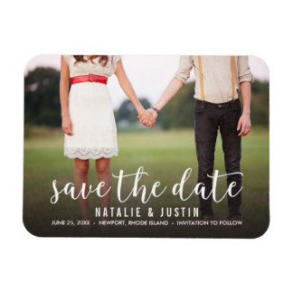 Whimsy Photo Save the Date Announcement Rectangular Photo Magnet