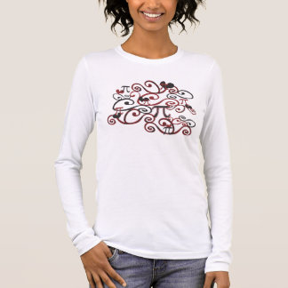 Whimsy Pi Symbols Pi Day Long Sleeve T-Shirt