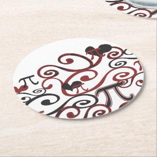 Whimsy Pi Round Paper Coaster