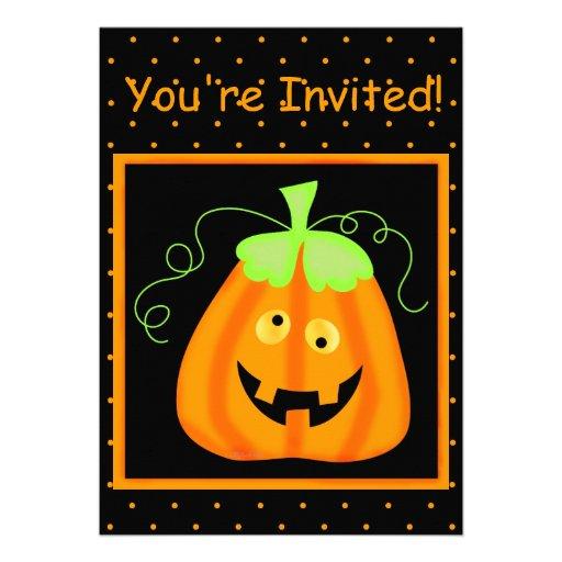 Whimsy Pumpkin Halloween Party Invitation