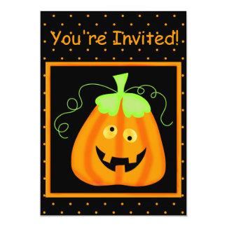 "Whimsy Pumpkin Halloween Party Invitation 5"" X 7"" Invitation Card"