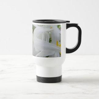 Whimsy White Wildflowers Coffee Mugs