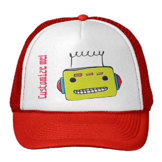 WhimsyMonger  customizable robot trucker cap