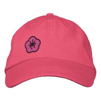 WhimsyMonger Pink Daisy Customizable embroidered Baseball Cap
