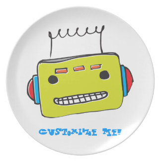 WhimsyMonger Robot Customizable Plate