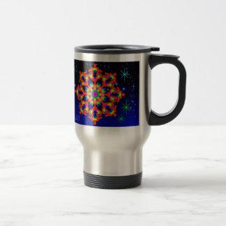 WhimsyQuest Kaleidoscope Commuter Mug Orange Lover
