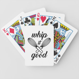 Whip It Good Bicycle Playing Cards