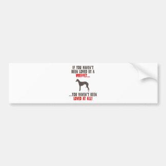 Whippet Bumper Sticker