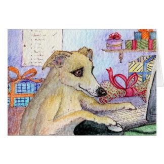 Whippet Christmas shopping online Card