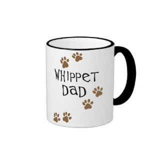 Whippet Dad for Whippet Dog Dads Ringer Coffee Mug