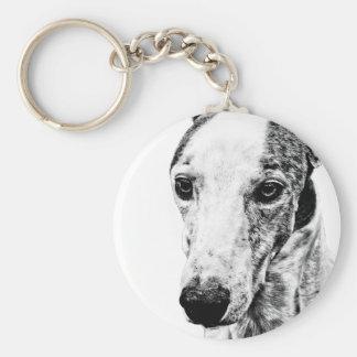 Whippet dog key ring