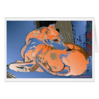 Whippet Hound (Maddie)-Card Card