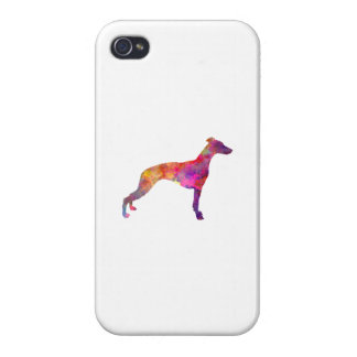 Whippet in watercolor iPhone 4 cover