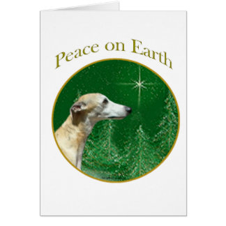 Whippet Peace Card