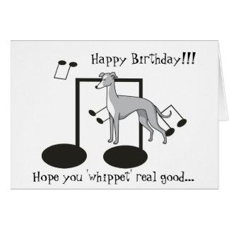 Whippet Pun - Greeting Card